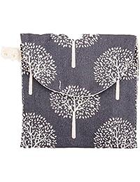BIGBOBA Mme portable serviette hygiénique sac coton mélange serviette hygiénique sac de rangement sac à main petit sac de commodité (une vente)