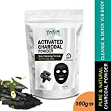 #2: Vokin Biotech Activated Charcoal Powder (For Face mask, Teeth whitening & Teeth Cleaning, Skin Treatment) (100gm)