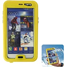 Donkeyphone S12XN3C1600 - Carcasa acuática para Samsung Galaxy note 2/n7100/n7105/note 3/n9000/n9005 y funda sumergible waterproof, color amarillo