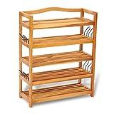 vidaXL Schuhregal 5 Etagen Holz