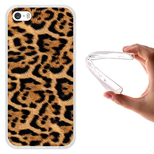 iPhone SE iPhone 5 5S Hülle, WoowCase Handyhülle Silikon für [ iPhone SE iPhone 5 5S ] Holzwand Handytasche Handy Cover Case Schutzhülle Flexible TPU - Transparent Housse Gel iPhone SE iPhone 5 5S Transparent D0510