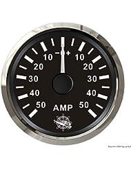 Ampèremètre avec shunt 50 A noir/polie