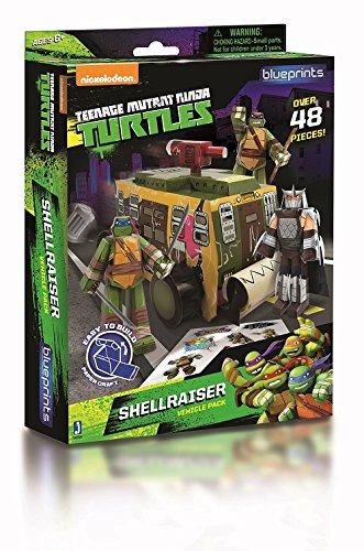 Jazwares 12705 - Blueprints - Teenage Mutant Ninja Turtles Shellraiser Van Pack, 48 Teile