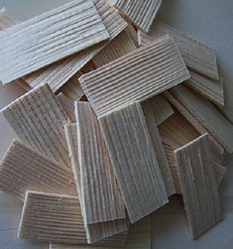 Dachschindel aus Fichtenholz. Krippenbau, Modellbau. 55x22-25 mm. 100 St W062