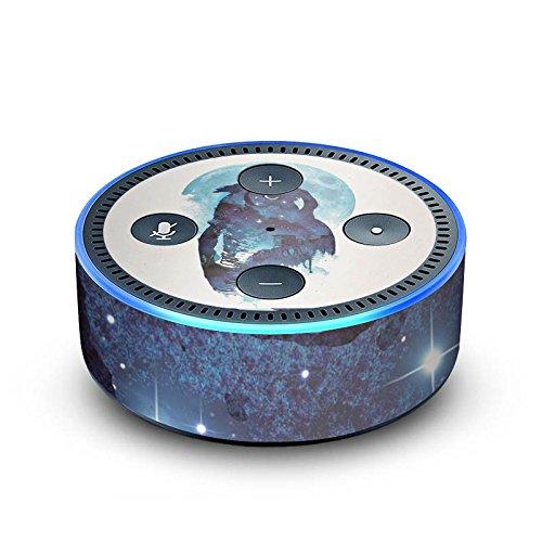 DeinDesign Amazon Echo Dot 2.Generation Folie Skin Sticker aus Vinyl-Folie Owl Eule Nacht