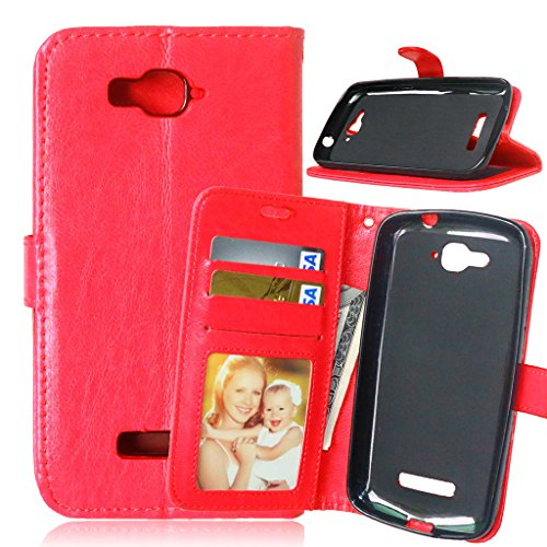 FUBAODA [Classic] Funda folio + Cable Libre para Alcatel One Touch Pop C7 (7041D...
