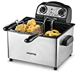 Gourmia GDF475 Fry Station Deep Fryer Plus 2.0 Multi Fry Professional Style Deep Fryer, 4 Liter Capacity, Stainless Steel, 3 Baskets, 1650 Watts, E-Recipe Book Included