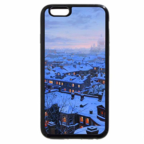 iPhone 6S / iPhone 6 Case (Black) Eugeny Lushpin - St. Petersburg roofs