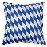 Hans-Textil-Shop Kissenbezug 40x40 cm Bayern Raute Weiß Blau