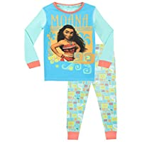 Disney Girls Moana Pyjamas Snuggle Fit Ages 2 to 12 Years
