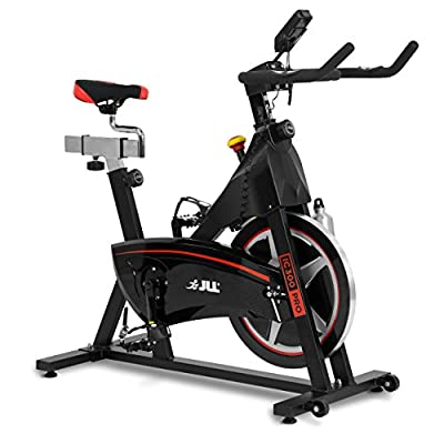 JLL IC300 PRO Indoor Cycling Exercise Bike, Direct Belt Driven 20kg  Flywheel with Adjustable Magnetic Resistance, 3-Piece Crank, 6-Function  Monitor,