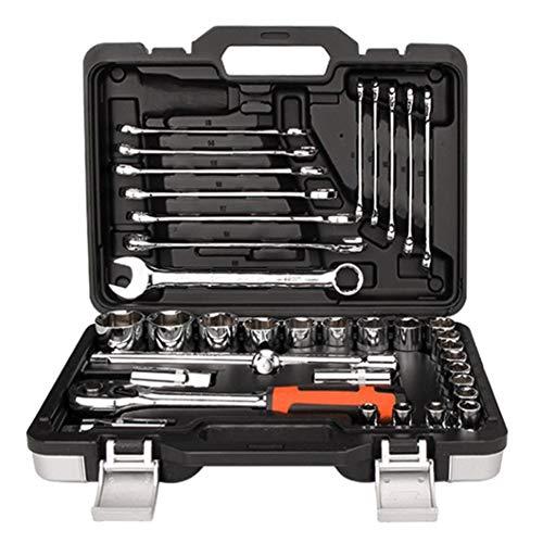 37-teiliges Ratschenschlüssel-Einsatz, Kombiwerkzeug-Set für Auto-Reparatur und Haushalt