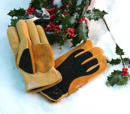 "WAGNER Gold Leaf Gloves ""WINTER TOUCH"" Damen – Gartenhandschuhe der Extraklasse, Rindsleder / Thermo Thinsulate – 25304100"
