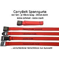 """CarryBelt /""""Toulon 25/"""" Sicherungsgurt Spanngurt 2er Set Camping Outdoor Fahrrad"""