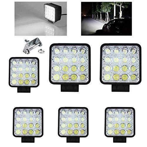 Vingo® 6 x LED 48 watts, projecteur de travail ou pour marche arrière, 12 V et 24 V, étanche