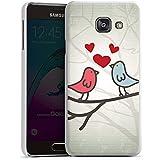 Samsung Galaxy A3 (2016) Housse Étui Protection Coque C½ur Oiseau Amour