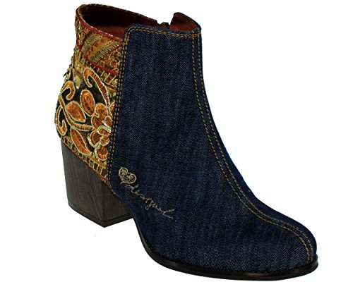 Desigual, Country exotic 17WSAFB0, Femme Bottine Jeans fantaisie