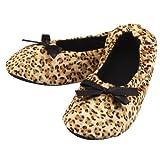 2222 Damen Ballerina Slippers Leopard Gr. 39/42