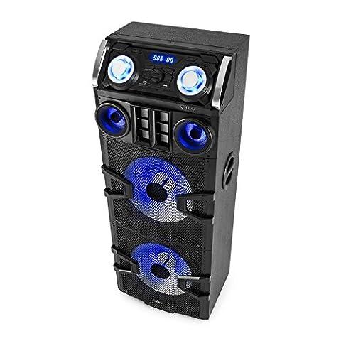 Malone Big Party 2500 • mobile PA Anlage • 3-Wege PA-Lautsprecher • DJ-Party Audiosystem • 240 Watt RMS • 2 x 10