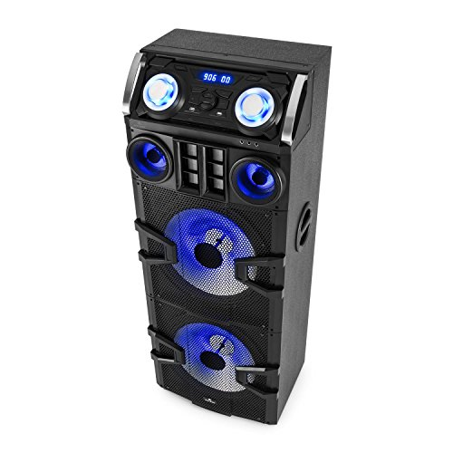 Malone Big Party 2500 • mobile PA Anlage • 3-Wege PA-Lautsprecher • DJ-Party Audiosystem • 240 Watt RMS • 2 x 10