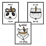 luvel - (P8) - 3er-Set DINA4 Poster für Kinderzimmer und den Bilderrahmen, Kinderposter, Babyzimmer Bilder, Baby Bilder, Dekoration Kinderzimmer