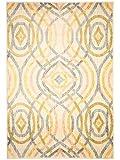 benuta Teppich Pintura Gelb 133x190 cm | Moderner Teppich für Wohn- und Schlafzimmer