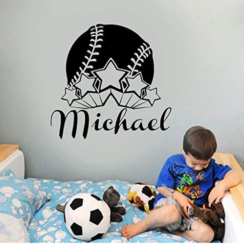 DongOJO Beste Baseball Player Boy Vinyl Wandaufkleber Aufkleber Kindergarten Wohnkultur Jungen Zimmer Kind Schlafzimmer 57x54 cm (Besten Baseball-filme)