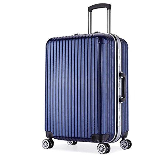 Telaio in alluminio Trolley Custodia da viaggio universale rotella cassa dei bagagli , 3 , 22 inch - 22 Pelle Mm Brown