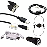 ReadyPlug Accessory Bundle for Asus ZenPad 8.0 Tablet Z380M USB Data/Charger/3.5mm Audio Discount Multi Pack