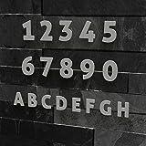 Colours-Manufaktur Hausnummer Modern 0-9 und A-H *Made in Germany* Viele Verschiedene Farben und Größen wählbar (15 cm, Edelstahl gebürstet)