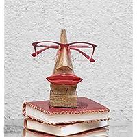 """Quirky Hecho a mano """"Forma de Nariz"""" Soporte para gafas Rosewood Gafas Gafas De Sol Soporte De Soporte Para El Hogar Y Decoración De Oficina (Forma de nariz marron1)"""
