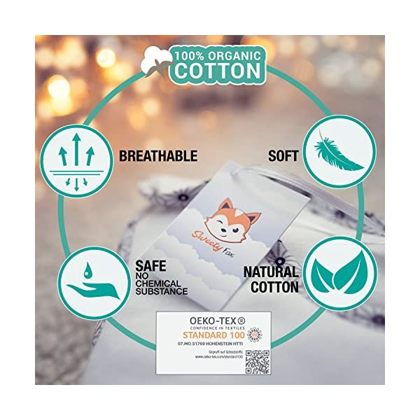 Sweety Fox – Saco de Dormir Bebe – Algodon 100% Ecológico Certificado Oeko-Tex® Sin Productos Químicos – Unisex