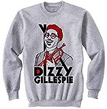 Photo de TEESQUARE1st Men's Dizzy Gillespie Jazz Grey Sweatshirt par TEESQUARE1st