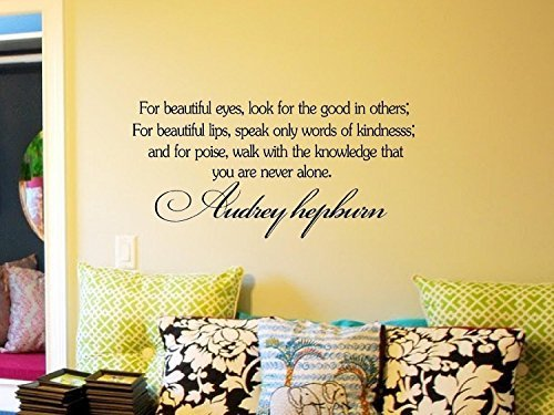decalgeek Audrey Hepburn Inspirierende Zitate Vinyl Wand Kunst Aufkleber Aufkleber