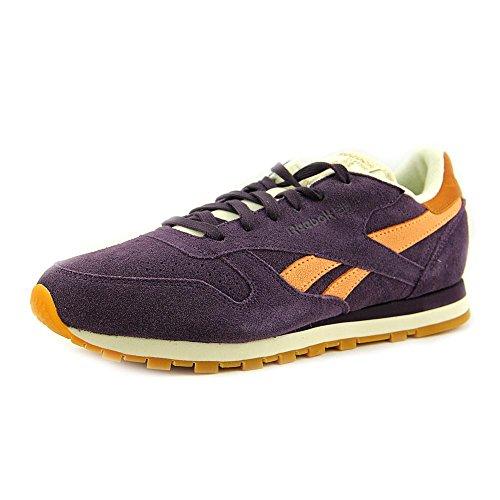Reebok Cl Suede Chaussures en cuir Portrait Purple/Orange Glow/Cream White/Brass