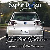Vw Limited Edition Tuning Autoaufkleber - Logo A156 / 17 x 5 cm Hochleistungsfolie in der Farbe Weiß