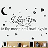 Zooarts I Love You To The Moon And Back Again extraíble pared adhesivo