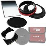 Fotodiox WonderPana 66 reducido, 9 WK Kit de núcleo de 145 mm y filtro/6.6 Soporte de actualización/6.5 x 8 0.9 suave del borde del filtro/145 mm filtro ND16 (4-stop) filtro/Tapa de objetivo para Nikon 14-24 mm AF-S Zoom Nikkor f/2.8 G Objetivo ED AF (full-frame 35 mm)