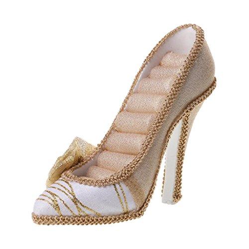 Schmuckständer, High Heel Schuh Form, Schmuck Display Regal, Aufbewahrungsbox, Für Schmuck/Ketten/Ringe - Gold, 5,91 x 4.72inch