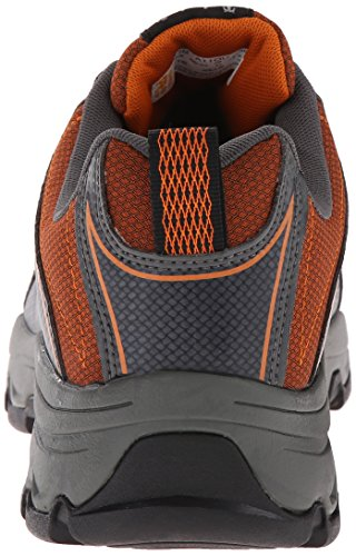 Timberland PRO Men s Rockscape Low Steel Toe Industrial Hiking Boot  Grey Synthetic with Orange Pops  8 M US