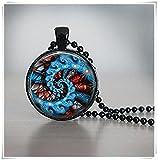 Arte abstracto de cristal para azulejos joyería abstracta joyas imagen abstracta Negro Collar Negro Joyería