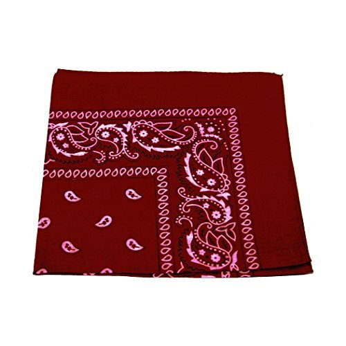 uk-seller-mens-womens-bandana-head-scarf-neck-scarves-paisley-100-cotton-burgundy-mens-bandana-head-