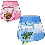 TecTake Carpa de juegos con 100 bolas piscina de bolas carpa infantil con bolsa azul