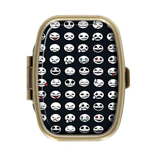 Pillendose - lustiger Ausdruck - dekorative Pillendose mit Geschenk-Box - Tasche, rechteckig, bronzefarben, Edelstahl Medikamenten-Halter Organizer Pillendose für Geldbörse (Dekorative Ausdrücke Elegante)