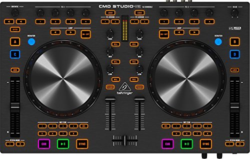 Behringer ZB766 CMD STUDIO 4A DJ MIDI Controller with 4-Channel Audio Interface (Behringer Mixer Dj)