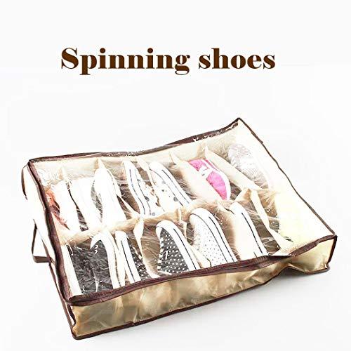 Riklos 12 Grid Non-Woven Shoebox Folding Organizer Schuhe Lagerung Schrankordnungssysteme