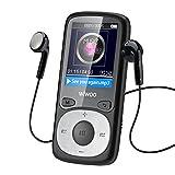 WIWOO 16gb MP3 Lecteur, 1,8 Pouces Portable Lossless MP4 Lecteur de Musique avec Radio/Enregistrement Vocal, Lecteur Audio, y Compris Les écouteurs, Extensible jusqu'à 64gb (Noir)