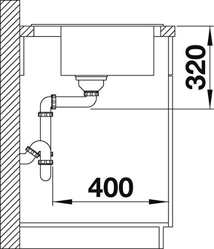 Blanco ZENAR 5 S, Küchenspüle, Granitspüle aus Silgranit PuraDur inklusiv Glasschneidbrett, 1 Stück, perlgrau, 520438 - 5