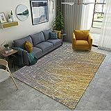 DAMENGXIANG Moderne Einfache Abstrakte Linie Druck Teppich Für Wohnzimmer Couchtisch Schlafzimmer Matte Rutschfeste Bodenmatte Wohnkultur 80 × 160 cm