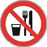 U24 Aufkleber Essen und Trinken verboten Autoaufkleber 15 cm Sticker Konturschnitt